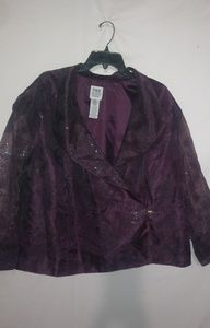 R&M Richards Purple Fancy Jacket 26W Plus